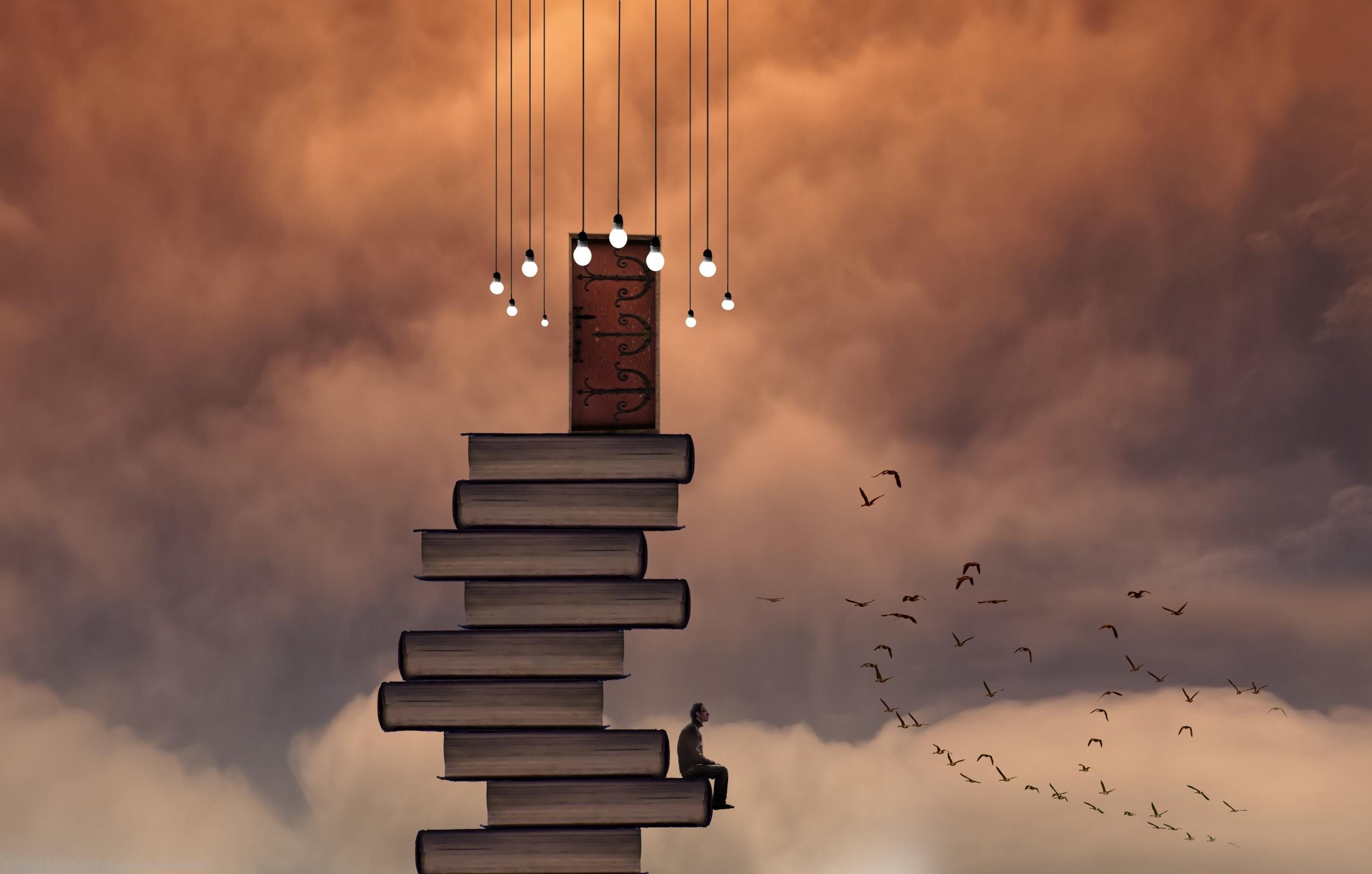 situations-books-man-creative-design-art-birds-hd-wallpaper